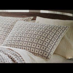 Threshold Embroidered Grid Pillow Sham